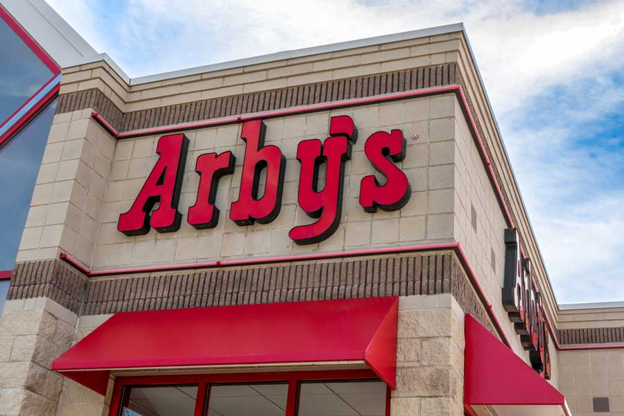 Arby's drive through is a famous restaurant founded in Columbus, Ohio