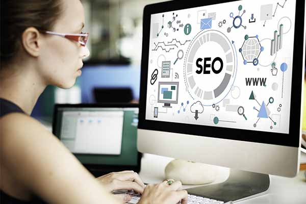 An SEO consultant working hard ranking a website