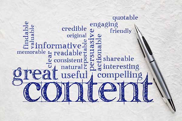 SEO relies on content marketing. Content is king.
