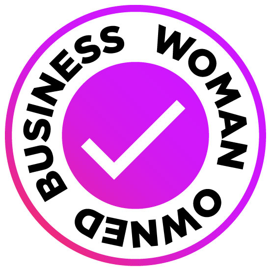 Round design: add a free woman owned business logo